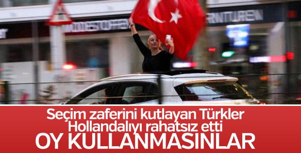 Hollanda'da Türk vatandaşlarına oy kullanma yasağı