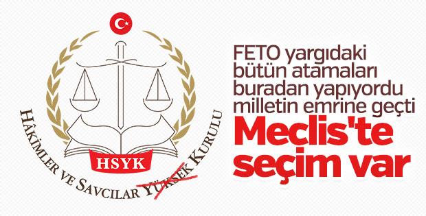 Meclis'te HSK'ya atamalar ele alınacak