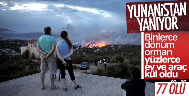 Yunanistan'da orman yangını: 77 ölü 156 yaralı