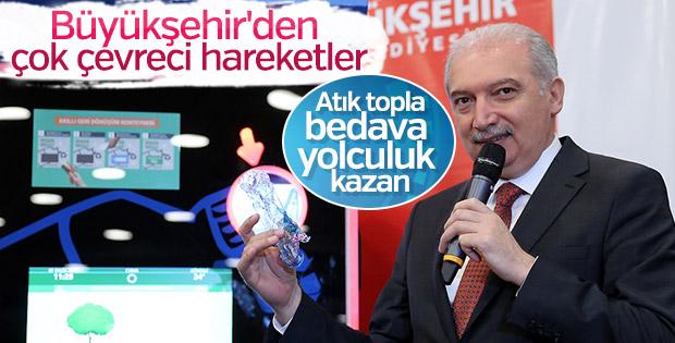 İBB'den çevre dostu İstanbulkart yükleme makinesi