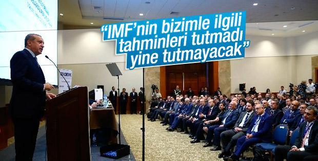 Erdoğan: IMF bizimle ilgili tahminleri tutturamadı
