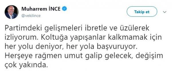 CHP'deki kavga Özkan-İnce tarafına taşındı