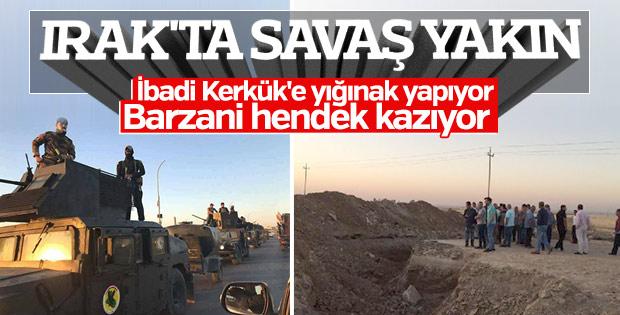 Peşmerge Duhok ve Erbil'den Musul'a giden yolları kazdı