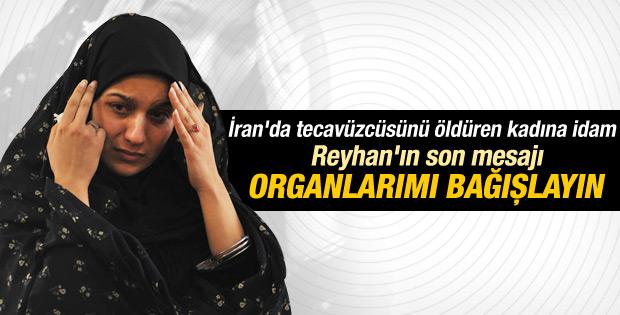 İran'da tecavüzcüsünü öldüren kadın idamdan önce ne dedi