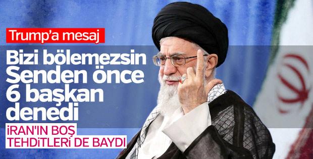 Hamaney: ABD, umutsuzca İranlıları bölmek istiyor