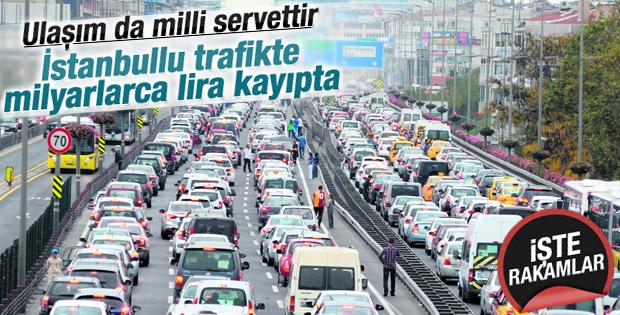 İstanbullu trafik yüzünden yılda 6,5 milyar lira kayıpta