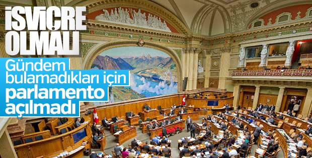 İsviçre parlamentosu gündem olmadığı için açılmadı