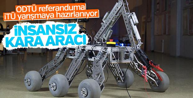 İTÜ öğrencilerinden 'insansız kara aracı'