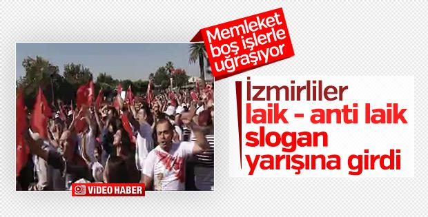 İzmir'de slogan gerginliği