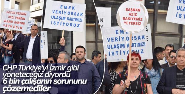 İzmir'de görüşmeler sonuçsuz kaldı, memurlar eylem yaptı