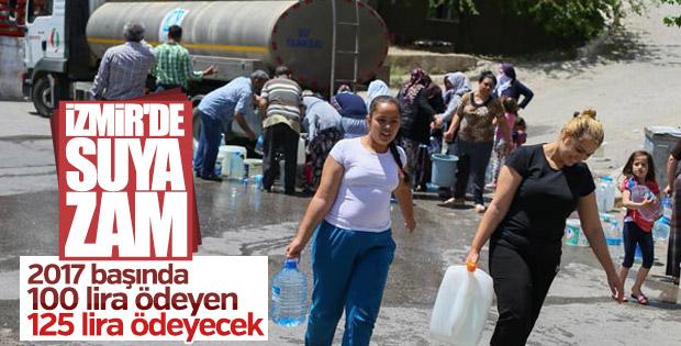 İzmir'de suya yüzde 10 zam
