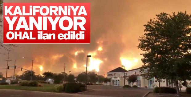 Kaliforniya'da yangın nedeniyle OHAL ilan edildi