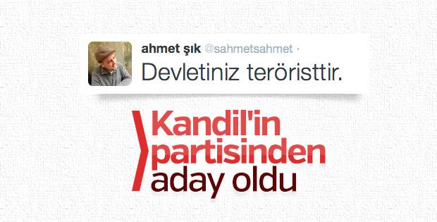 Ahmet Şık HDP'den aday oldu