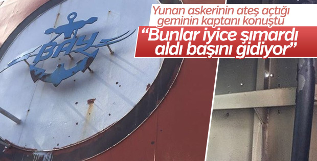 Saldırıya uğrayan Türk gemisinin kaptanı olayı anlattı