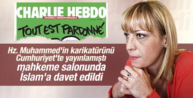 Ceyda Karan Charlie Hebdo için hakim karşısına çıktı