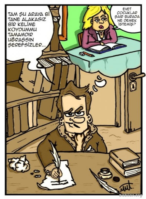 Karikatürlerde edebiyat
