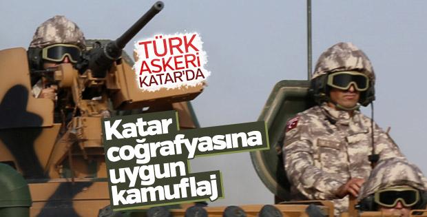 Katar'daki Türk birliğinden yeni görüntüler