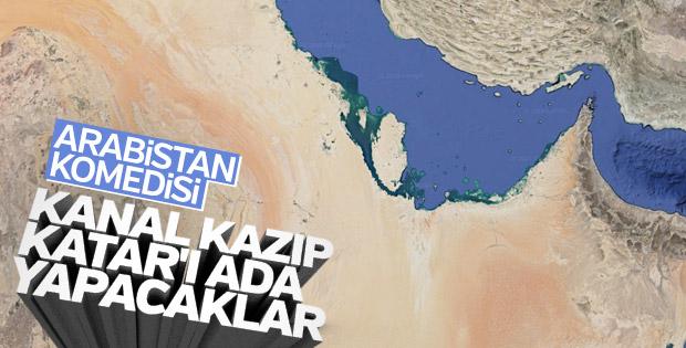 Suudi Arabistan, Katar'ı ana karadan ayıracak