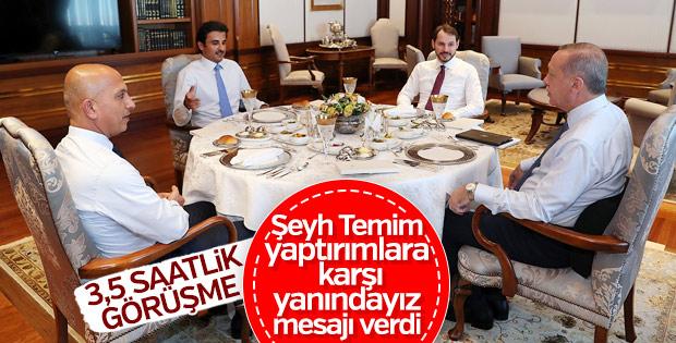 Erdoğan-Şeyh Temim görüşmesi sona erdi