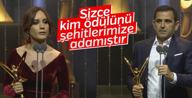 Nazlı Çelik ve Fatih Portakal'ın ödül konuşmasındaki fark