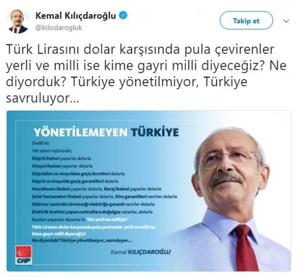 Kemal Kılıçdaroğlu, Türkiye'nin savrulduğunu ifade etti