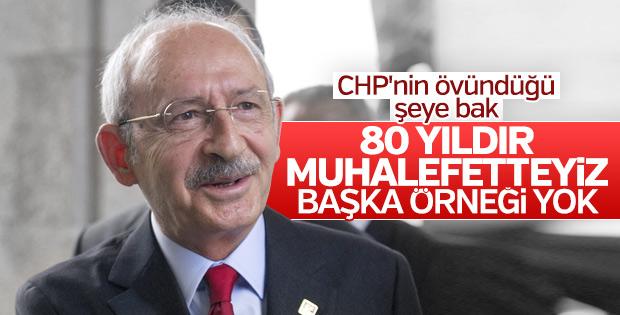 CHP muhalefette olmaktan gurur duyuyor