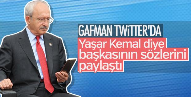 Kemal Kılıçdaroğlu'nun Yaşar Kemal gafı