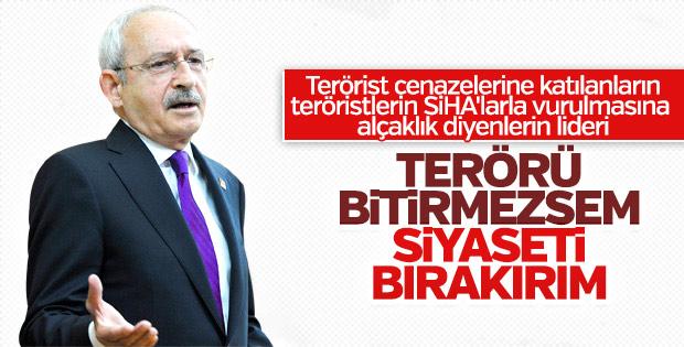 Kılıçdaroğlu terörü bitirme sözü verdi