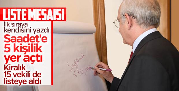 Kemal Kılıçdaroğlu'nun liste mesaisi