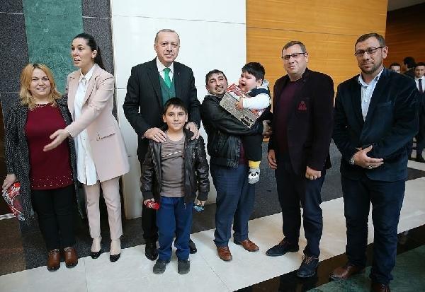 2 yaşında 29 kilo olan Yağız, Cumhurbaşkanı Erdoğan'la buluştu