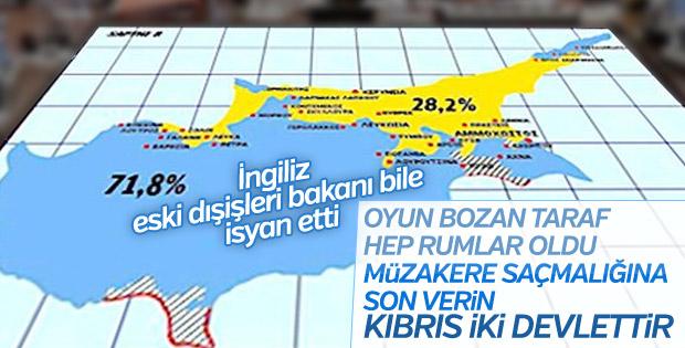 İngiliz eski bakandan Rumlara Kıbrıs eleştirisi