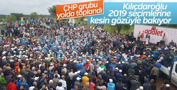 Kılıçdaroğlu'nun Adalet Yürüyüşü'ndeki grup konuşması