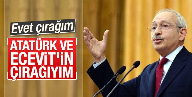 Kılıçdaroğlu: Ben Atatürk ile Ecevit'in çırağıyım