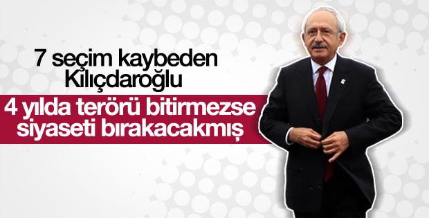 Kılıçdaroğlu terörle mücadele için 4 yıl istedi