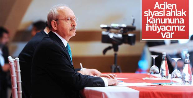 Kılıçdaroğlu'na göre anayasada siyasi ahlak kanunu eksik