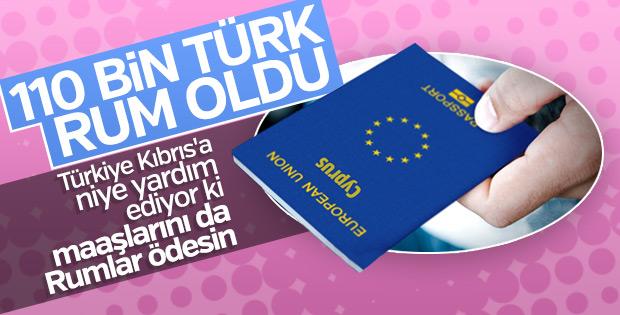 Kıbrıs'ta 110 bin Türk Rum vatandaşı oldu