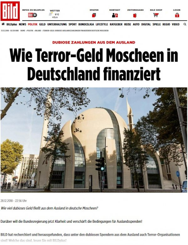 Attack on mosques targeted by Bild