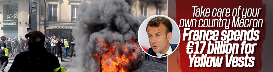 Macron spends €17 billion for Yellow Vests