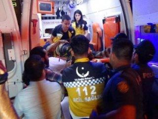 Karaman'da omzunda kurşun yarasıyla 4. kattan düştü
