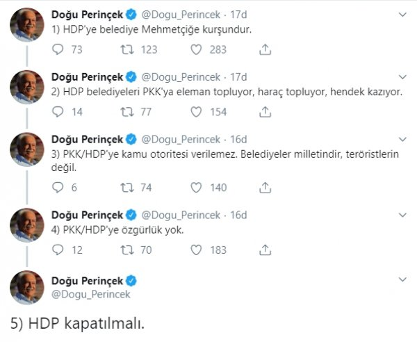 Devlet Bahceli and Dozu Perincek are commenting on creditors
