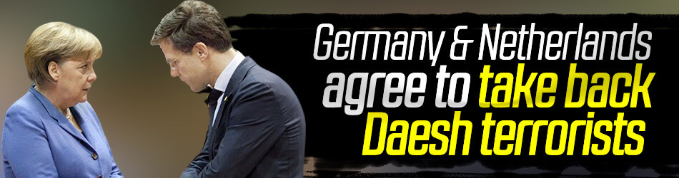 Germany, Netherlands agree to take back Daesh terrorists