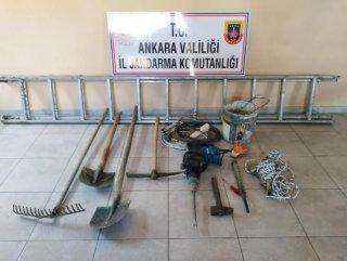 Ankara'da kaçak kazı operasyonu: 6 gözaltı