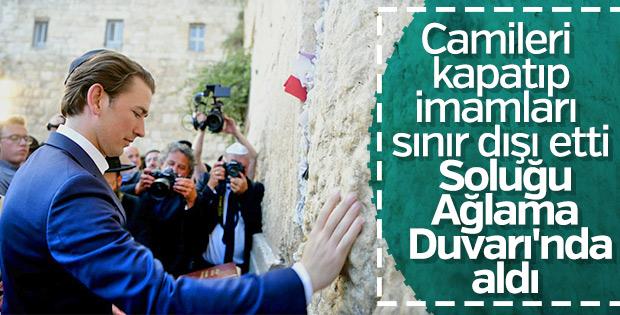 Sebastian Kurz Ağlama Duvarı'nda