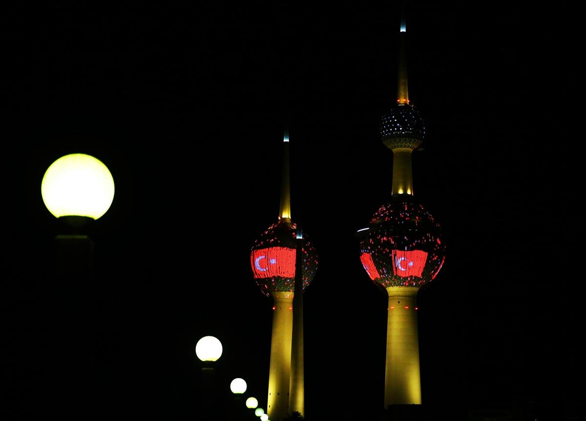 Kuveyt Kuleleri'nde Türk Bayrağı