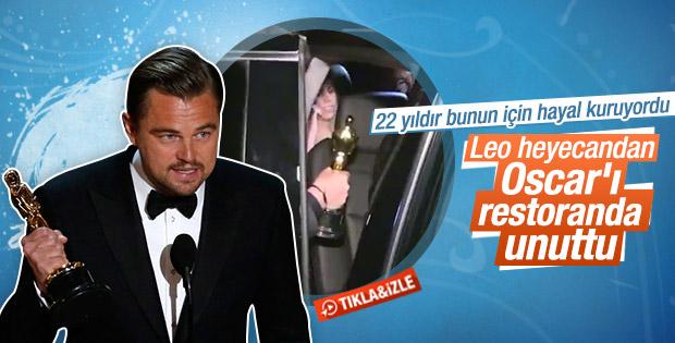 DiCaprio Oscar'ı restoranda unuttu