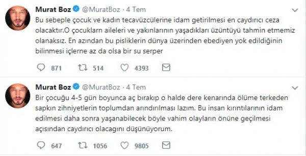 Tecavüzcülere idam isteyen Murat Boz'a linç girişimi