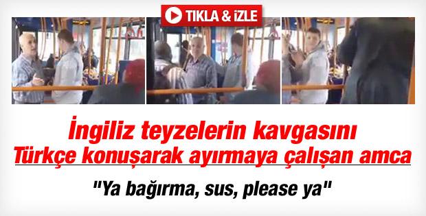 Londra'da kavga ayırmaya çalışan Türk amca İZLE