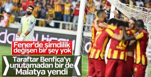 Fenerbahçe, Yeni Malatyaspor'a yenildi.