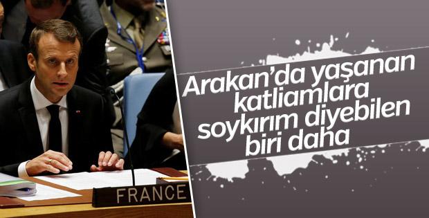 Macron: Arakan'da yaşananlar soykırımdır