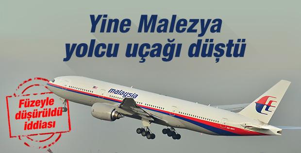 Malezya yolcu uçağı düştü